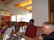 Interaction between ITS directors, Prof. K.C. Abraham and Mr. Madhu S of Centre for Public Policy Research, Kochi, India
