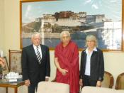 Prof. Samdong Rinpoche, former PM, Tibetan Government in Exile, ITS directors, Dharamsala