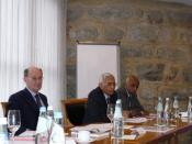 Dr. Alain Lamballe (Brig. rtd), Prof. Nagappa, Prof. Gopal, at ITS workshop, Bruneck, Italy