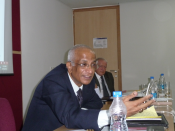 Ambassador V. S. Seshadri, Delhi, at ITS-workshop in Gurgaon, India