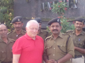Prof. Klaus Lange with members of Border Wing Force in Jaipur, Rajastan