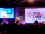 Counter Terrorism Conference 2015, special lecture by Shri Suja Nawaz, Jaipur, Rajasthan